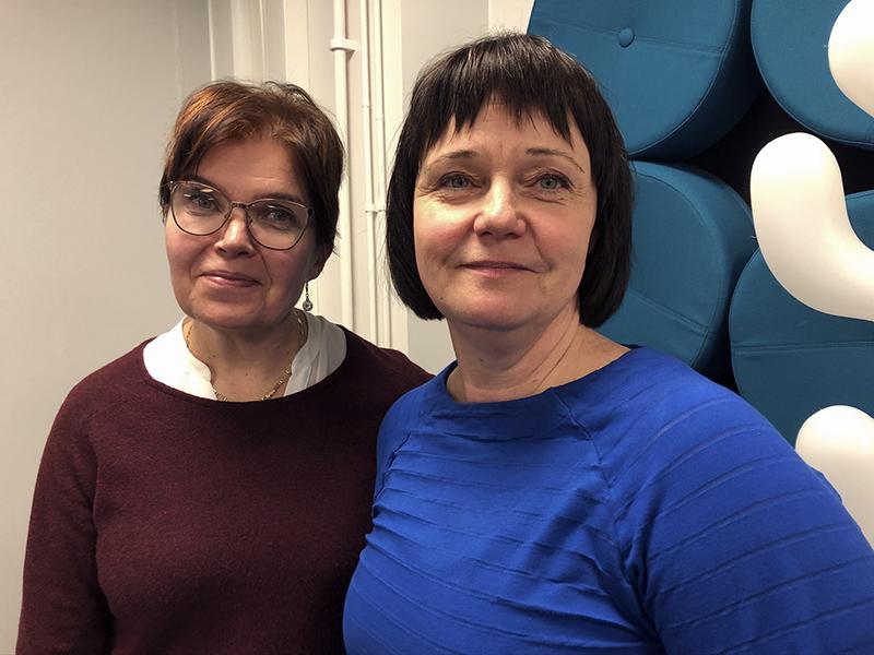 Arja Ahvenniemi ja Katri Lindberg