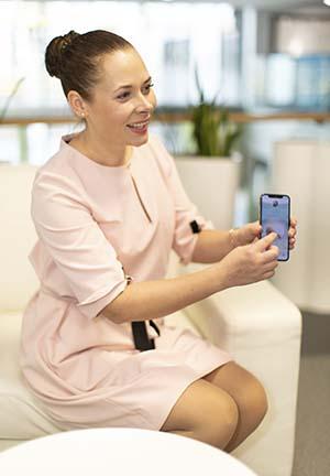 Layette toimii älypuhelimessa